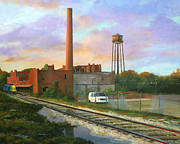 Abandoned Houses Painting Metal Prints - The Imperial Warehouse Metal Print by Matt Cook