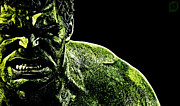 The Hulk Mixed Media Prints - The Incredible Print by The DigArtisT