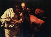 Caravaggio Paintings - The Incredulity of Saint Thomas by Pg Reproductions