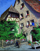 Streetscape Pastels - The Inn by Sandra Sigley