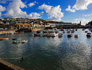 Fishing Village Posters - The Inner Harbour at Porthleven Poster by Louise Heusinkveld
