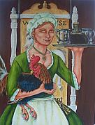 18th Century Painting Originals - The InnKeeper by Beth Clark-McDonal