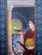 Tarot Paintings - The Innovator of Stars - Artwork for the Science Tarot by Janelle Schneider