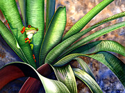 Bromeliads Glass - The Intruder by Lyse Anthony