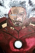 Ironman Painting Posters - The Invicible Ironman Poster by Corey Hopper