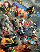 Super Hero Metal Prints - The Invincibles Metal Print by Ryan Barger