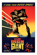 Movie Mixed Media - The Iron Giant 1999 by Presented By American Classic Art