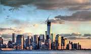 New York City Skyline Framed Prints - The Island II Framed Print by JC Findley