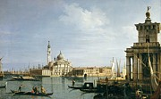 Gondolier Paintings - The Island of San Giorgio Maggiore by Canaletto