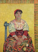 Famous Paintings - The Italian  Agostina Segatori by Vincent Van Gogh