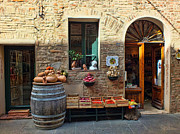 Grocer Prints - The Italian Grocer Print by Karen Lewis