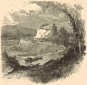 White River Scene Drawings - The James above Richmond 1872 Engraving by Antique Engravings