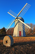 Catherine Reusch Daley Prints - The Jamestown Windmill  Print by Catherine Reusch  Daley