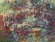 Nympheas Painting Prints - The Japanese Bridge at Giverny Print by Claude Monet