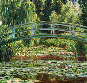 The Japanese Footbridge - The Japanese Footbridge and the Water Lily Pool Giverny by Claude Monet