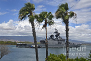 Pearl Harbor Framed Prints - The Japanese Self Defense Force Ship Js Framed Print by Stocktrek Images