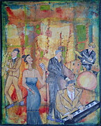 Featured Mixed Media Prints - The Jazz Band Print by Jane Snyder