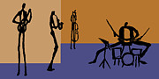 Drums Painting Prints - The Jazz Room 4 Print by Rhodes Rumsey