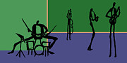 Drums Painting Prints - The Jazz Room 5 Print by Rhodes Rumsey