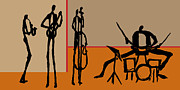 Drums Painting Prints - The Jazz Room Print by Rhodes Rumsey