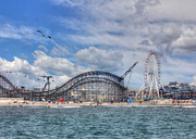 Roller Coaster Prints - The Jersey Shore Print by Lori Deiter