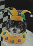 Terriers Pastels - The Jester by Pamela Humbargar