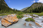 Kyrgyzstan Photos - The Jeti Oghuz Valley in Kyrgyzstan by Robert Preston