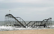 The Jetstar Rollercoaster In Seaside Heights Nj Print by Living Color Photography Lorraine Lynch