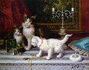 Kittens Digital Art - The Jewelry Box by Jules Leroy
