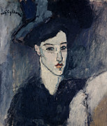 Figurative Painting Posters - The Jewess Poster by Amedeo Modigliani