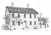 Technical Drawings Drawings Prints - The Jillson House Print by Michelle Welles