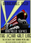 Passenger Mixed Media Prints - The John Galt Line Print by Gary Perron