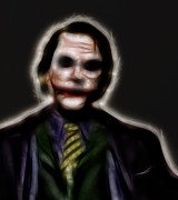 Two Face Prints - The Joker - Evil Incarnate  Print by Lee Dos Santos