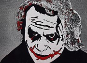 The Posters Mixed Media Prints - The Joker before he became famous Print by Robert Margetts