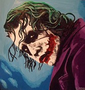 The Dark Knight Paintings - The Joker by Claire Reid