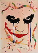 Clown Painting Originals - The Joker Heath Ledger original watercolor by Georgeta  Blanaru