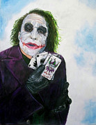 Scott Parker Metal Prints - The Joker - Heath Ledger Metal Print by Scott Parker