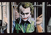 Spiderman Drawings Framed Prints - The Joker Framed Print by Lounis Production