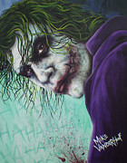 Dark Knight Rises Paintings - The Joker by Michael Vanderhoof
