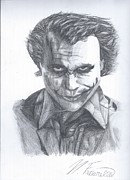 The Dark Knight Drawings - The Joker by Nicholas Fuciarelli
