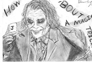 The Dark Knight Drawings - The Joker by Sean Cordy