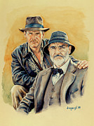Father And Son Drawings - The Jones Boys by Edward Draganski