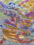 Musical Notes Painting Originals - The Journey by Alice Grimsley