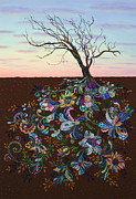 Blossoms Painting Prints - The Journey Print by James W Johnson