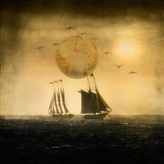 Tall Ships Prints - The Journey Print by Kim Swanson