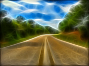 Photo Manipulation Posters - The Journey Poster by Wendy J St Christopher