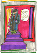 Theater Drawings - The Judge by Judith Van Praag