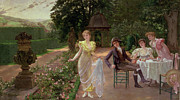 Al Fresco Metal Prints - The Judgement of Paris Metal Print by Hermann Koch