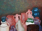 Jugs Prints - The Jugs at Santorini Print by Dorothy Merritt