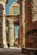 Archeology Posters - The Karnak Temple Poster by Erik Brede